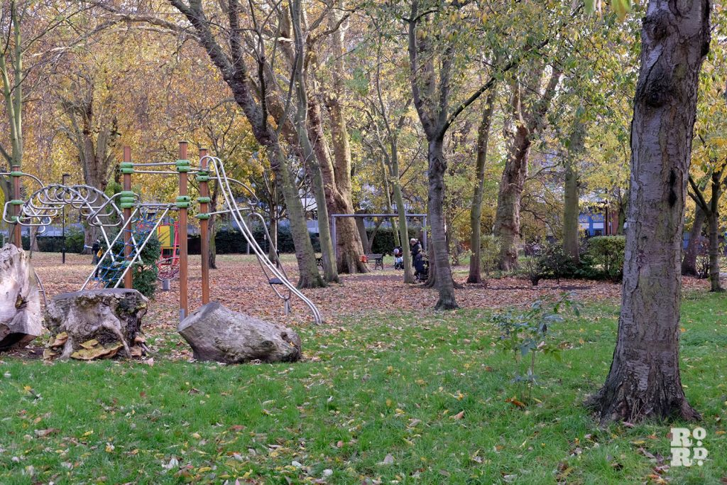 Meath Gardens in late autumn, Globe Town, one of East London best parks.