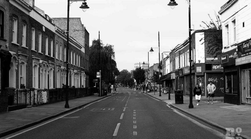 Roman Road high street during lockdown