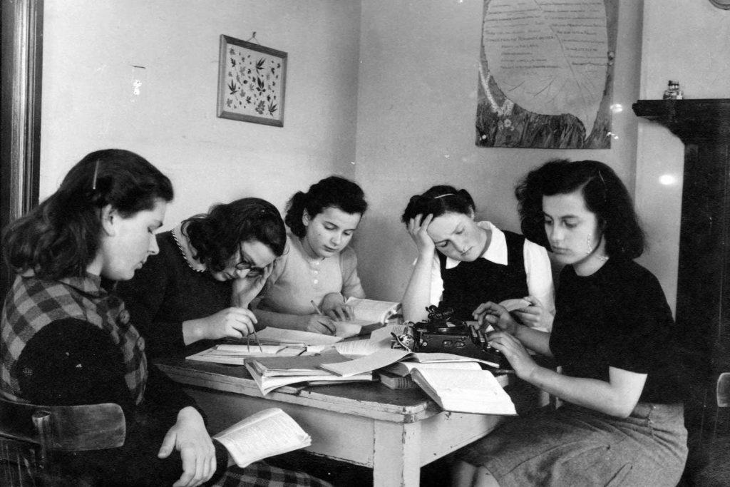 At her teaching training digs, Susie Powlesland in 1942
