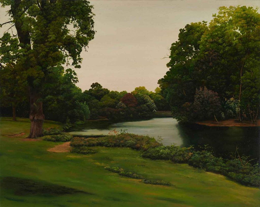 Painting of Victoria Park by artist Hannah Brown