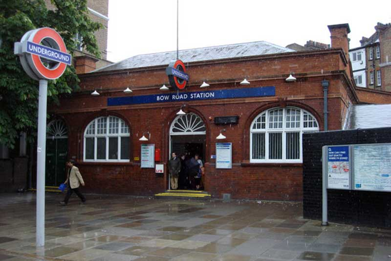 Entrance to Bow Road tube station, 2007