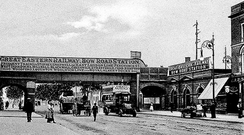 Bridge over Bow Road, looking West, 1907