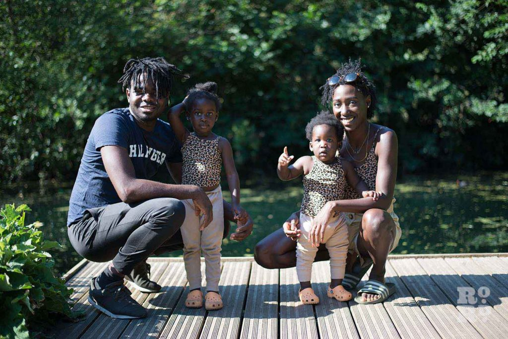 Instagram influencer Chaneen Saliee with her family by the lake in Victoria Park, talking about breastfeeding and being a role model for black women