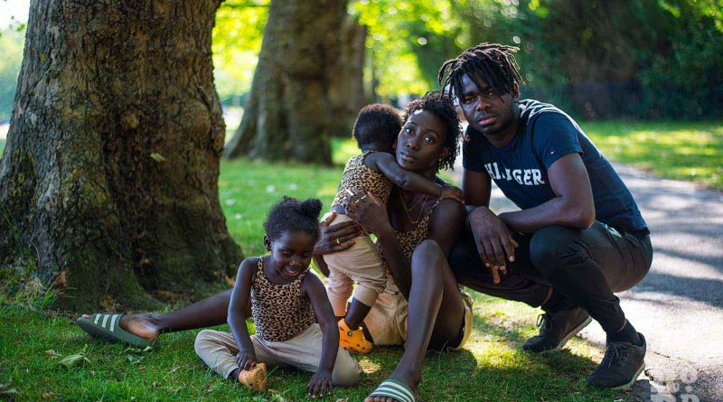 Mum influencer Chaneen Saliee with her family in Victoria Park, talking about breastfeeding and being a role model for black women