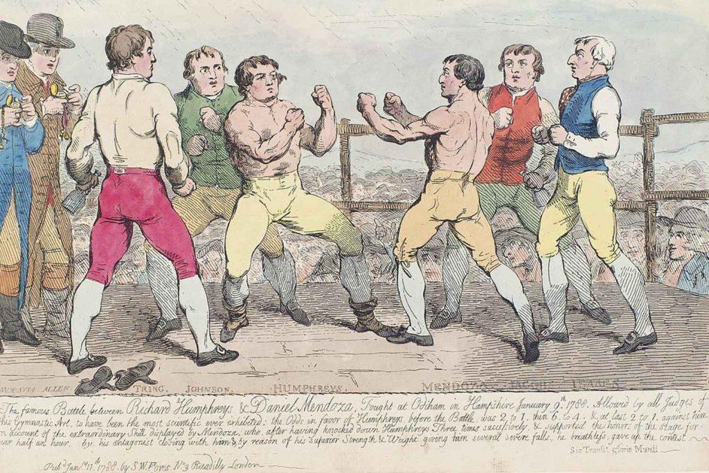 Illustratoin by Samuel William Forest showing Jewish Boxer Daniel Mendoza in 1788
