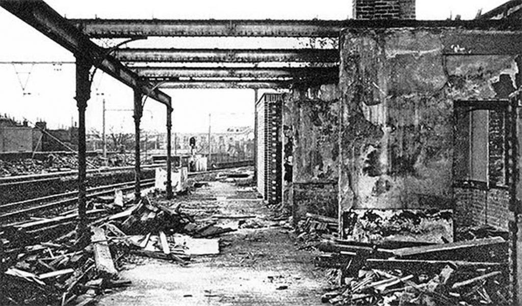 Demolition of Bow Road Station, 1967