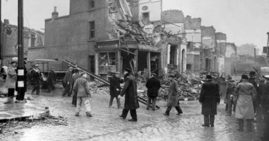 World War II's first doodlebug dropped on Grove Road, Bow, East London