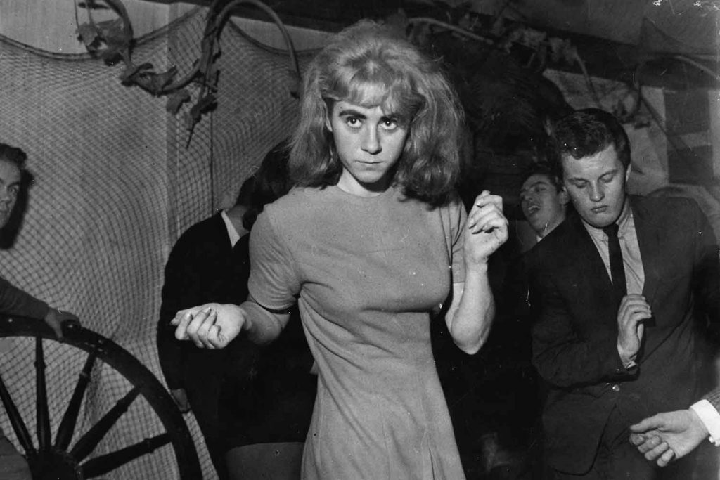 Frances Shea, Reggie Kray's wife, dancing.