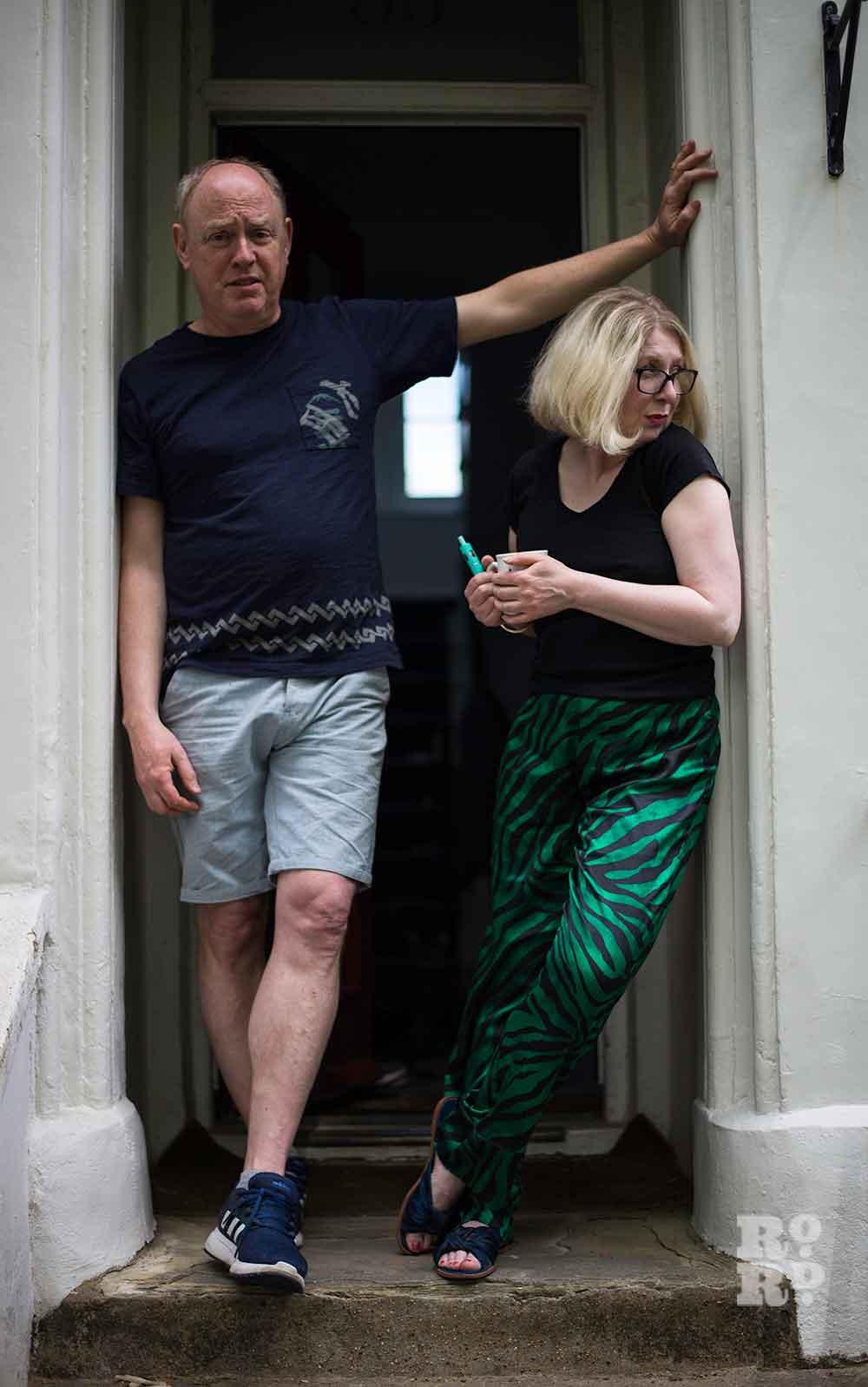 Michelle a local artist and partner on doorstep environmental portraits by Matt Payne