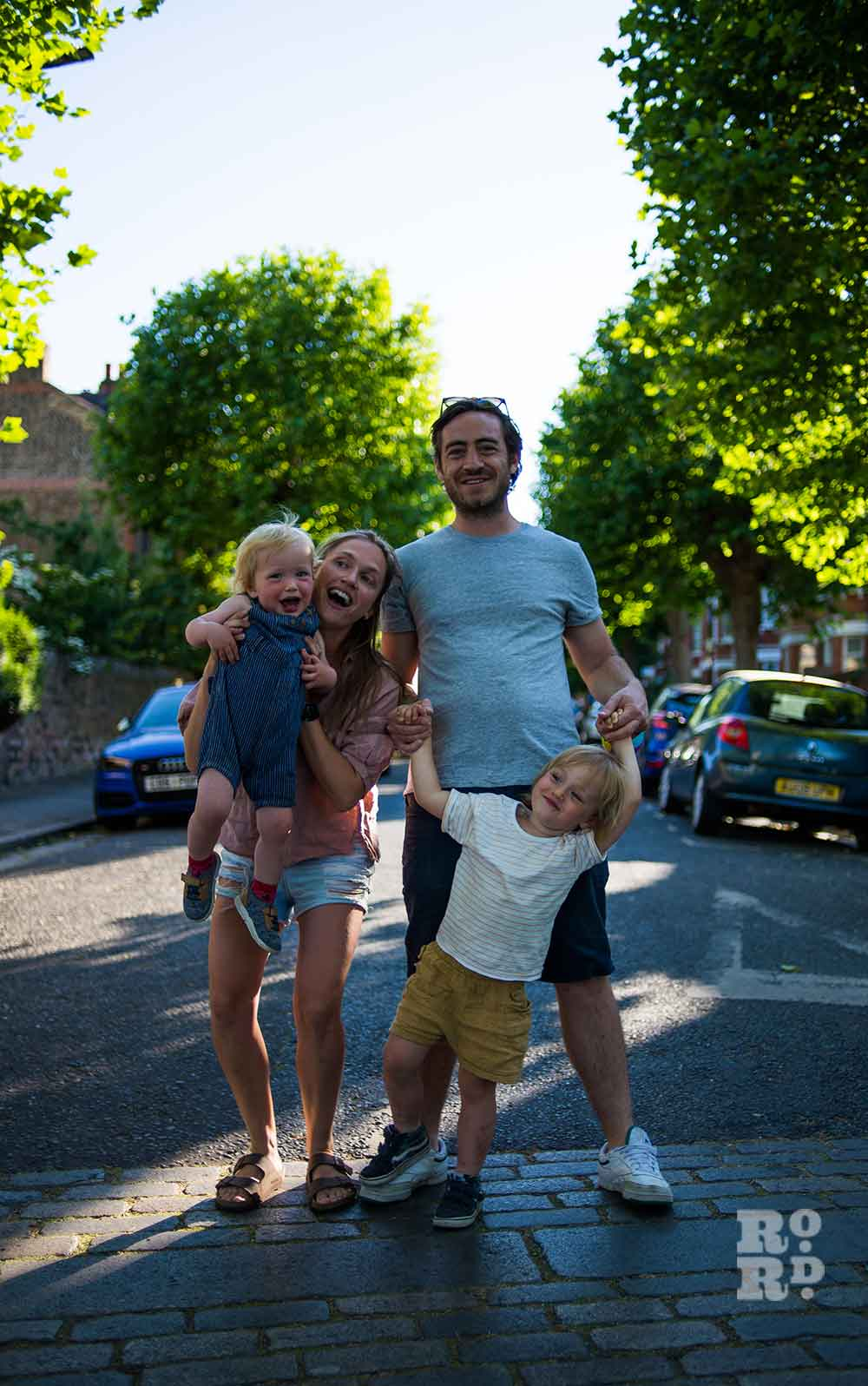 Lucy and family environmental portraits by Matt Payne