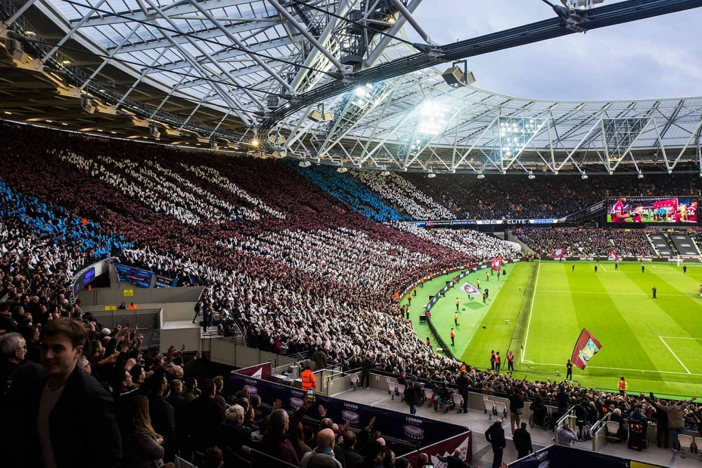 Patterns in the crowd at the stadium, Faces of West Ham, photos by José da Luz
