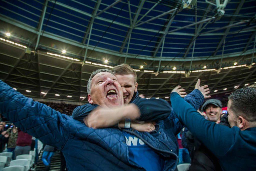 Celebrations in the stadium, Faces of West Ham, photos by José da Luz
