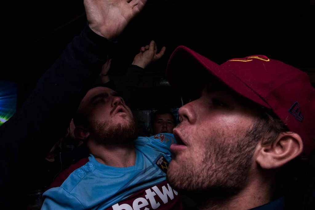 Celebrating, Faces of West Ham, photos by José da Luz