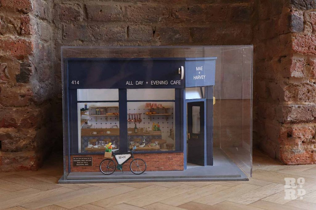 A model of Mae + Harvey's orginal shop made by owner Sayliss' grandfather