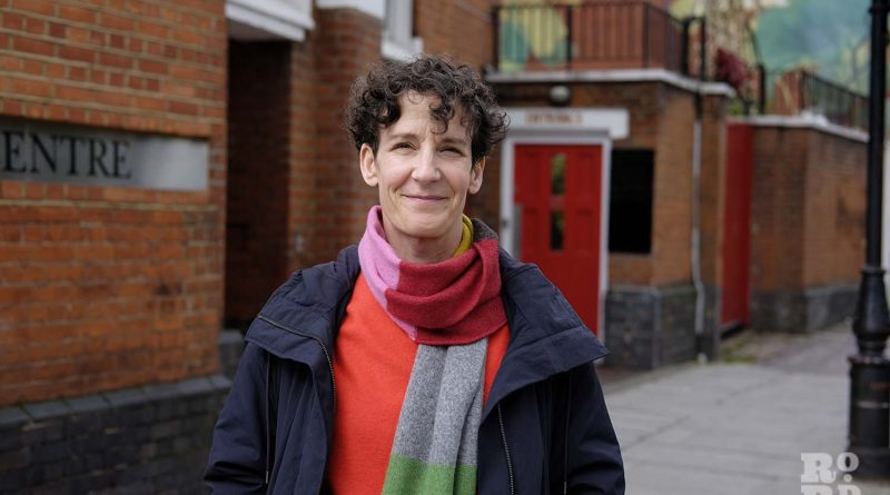 Esther McField outside the London Buddhist Centre, Roman Road
