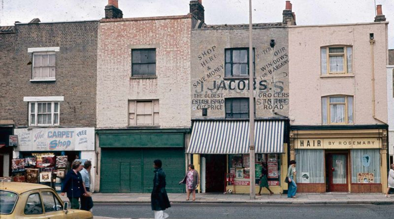 Vintage photo of hair by Rosemary and neighbouring shops