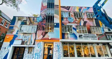 Mainyard Studio Bow Road mural of Clara Grant