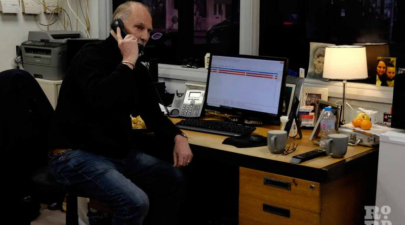Taking calls, Phil Price from Ace Cars on Roman Road