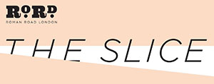 The Slice logo with RoRdLDN on orange 300px