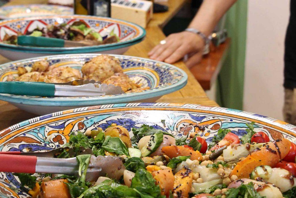Algerian lunch at Targa Green cafe on Tredegar Road in Bow