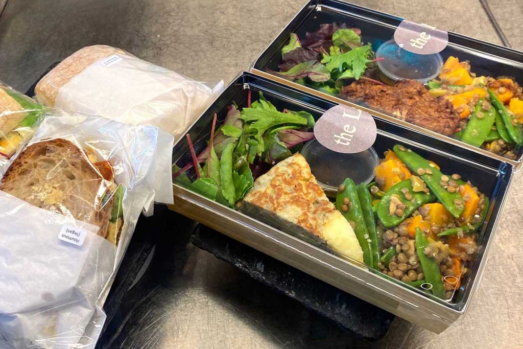 Takeaway lunch options at The Larder on Roman Road