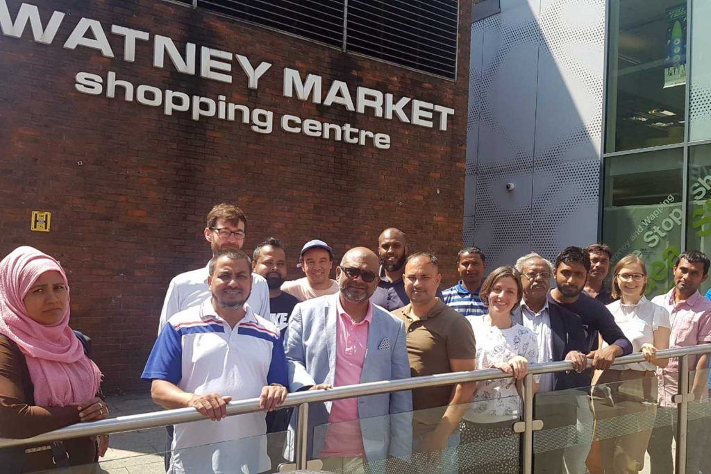 The traders at Watney Market who took part in our training programme