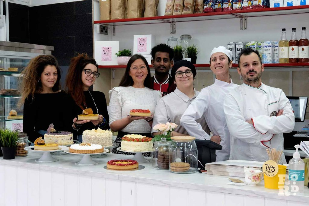 The staff at Bakery Room, Roman Road