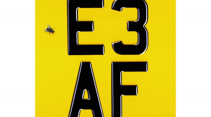 Dizzee Rascal's new album cover. E3 AF on yellow background.