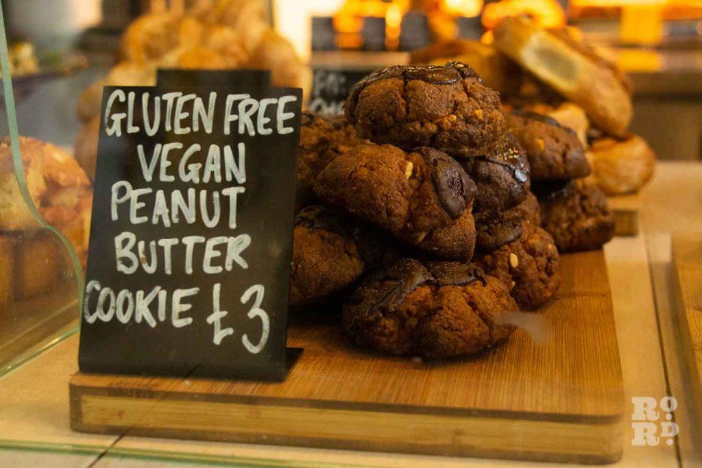 Vegan cookies, Hub Cafe Victoria Park London