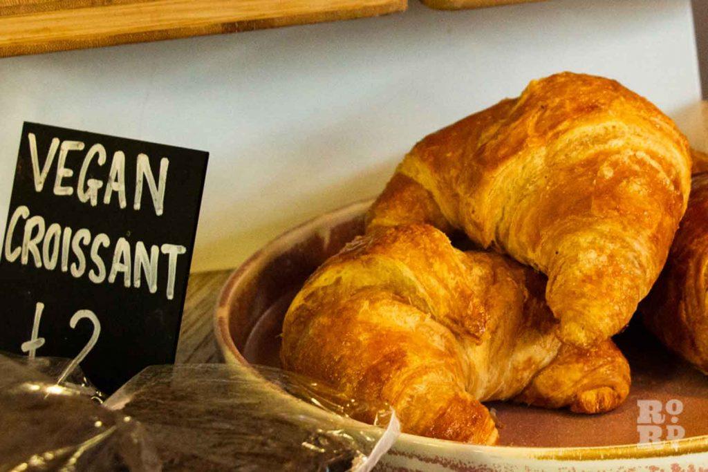 Vegan croissant, Hub Cafe Victoria Park London