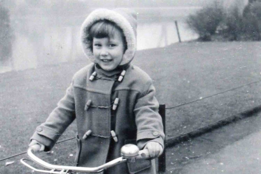 Linda as a child in victoria park