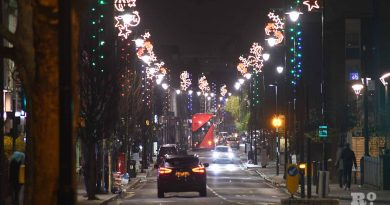 Christmas lights on Roman Road 2020, by photographer Phil Verney