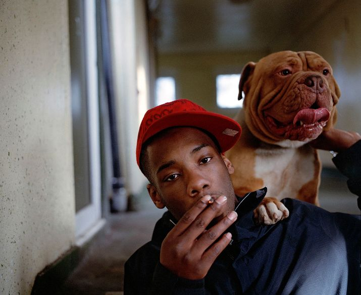 One man and his dog, by grime photographer Simon Wheatley