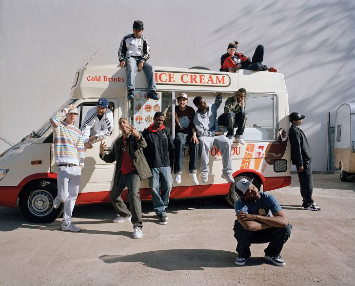 Standing around the ice cream van, by grime photographer Simon Wheatley