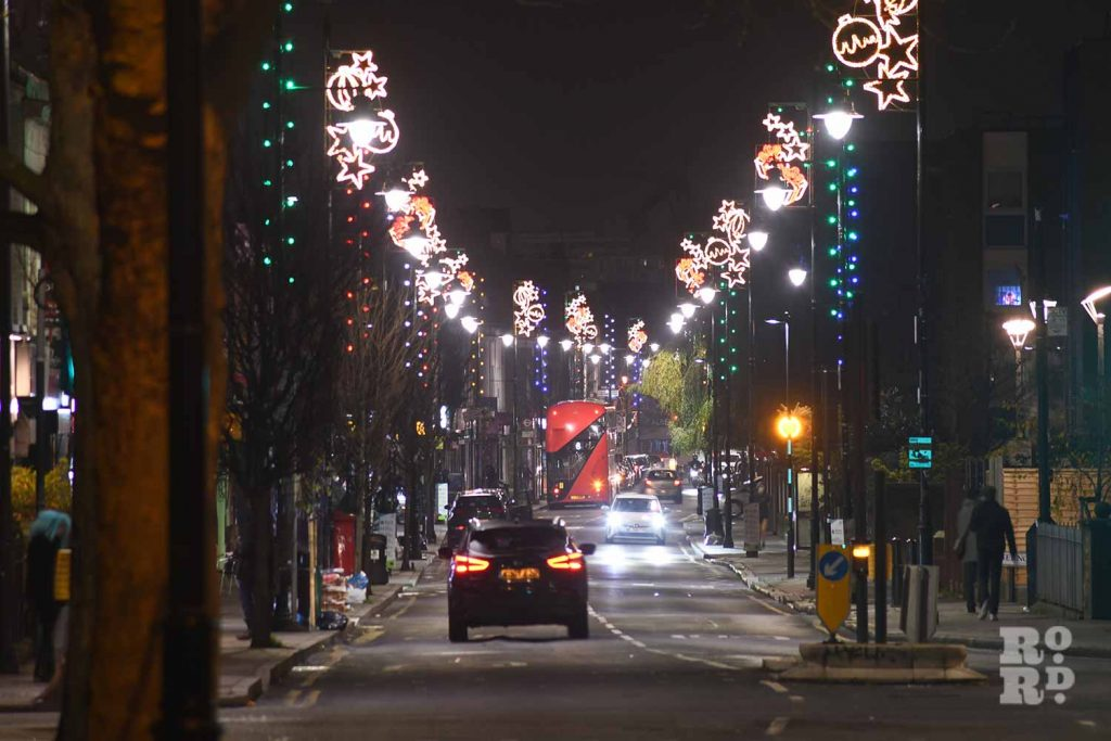 Roman Road lights, Christmas 2020, by Phil Verney
