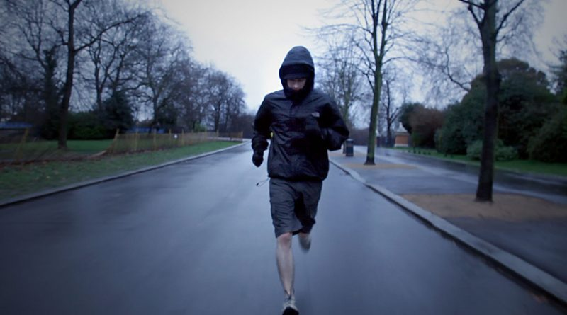 A still from the Victoria Park Runners film, set in East London