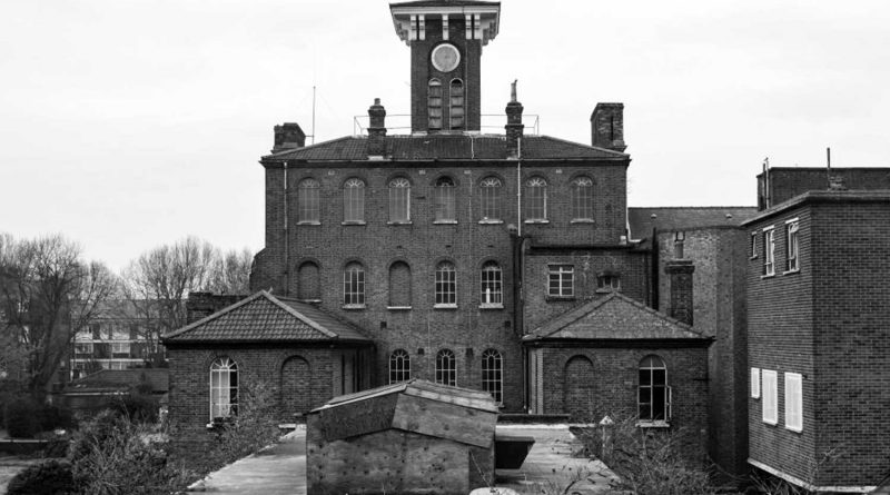 Clock tower St Clements Hospital Bow