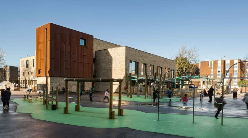 The playground at Olga School, Bow, East London