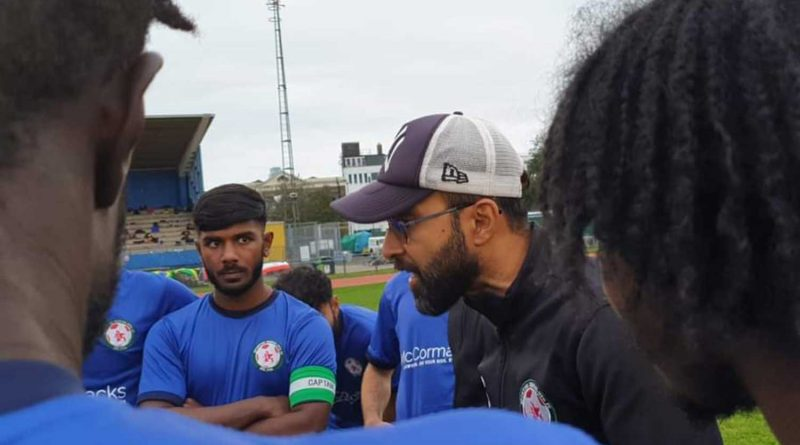 Sporting Bengal FC at Mile End Leisure Centre with captain Rokib Chowdhury