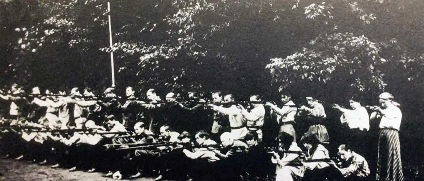 The People's Army suffragettes training in Victoria Park, 1913