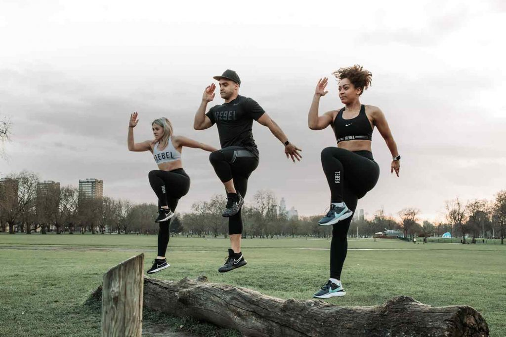 1rebel fitness class, Victoria Park, East London