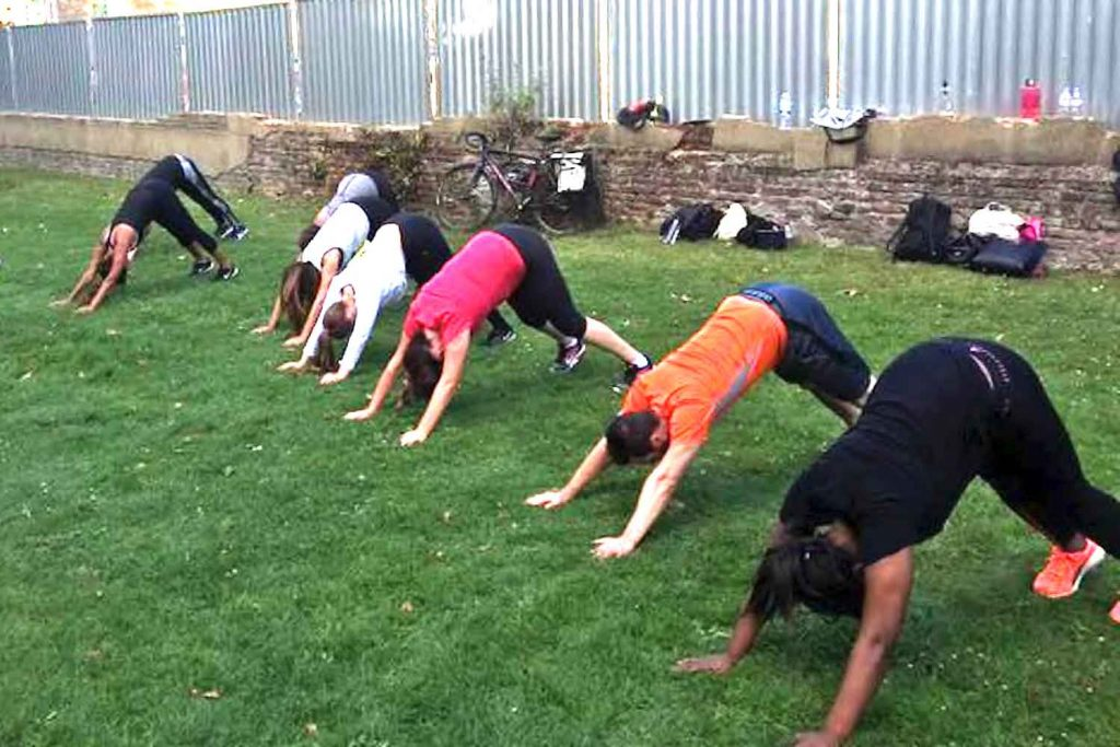 Admac, outdoor fitness class in Bow, East London