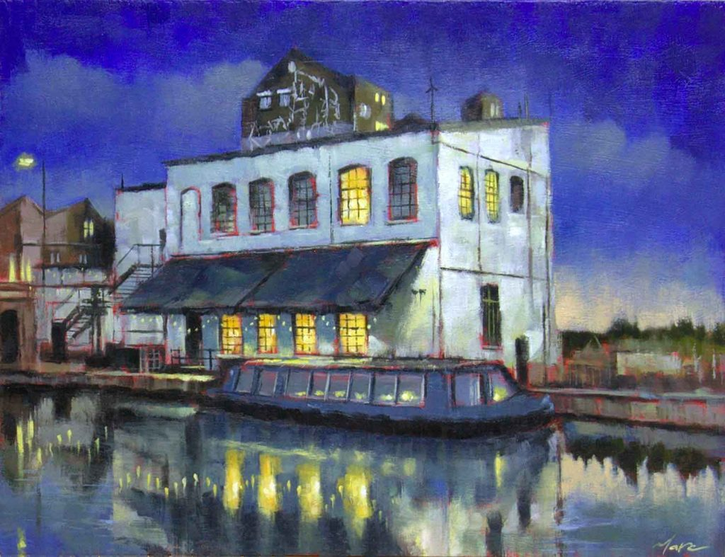 Crate Brewery, painting by artist Marc Gooderman.