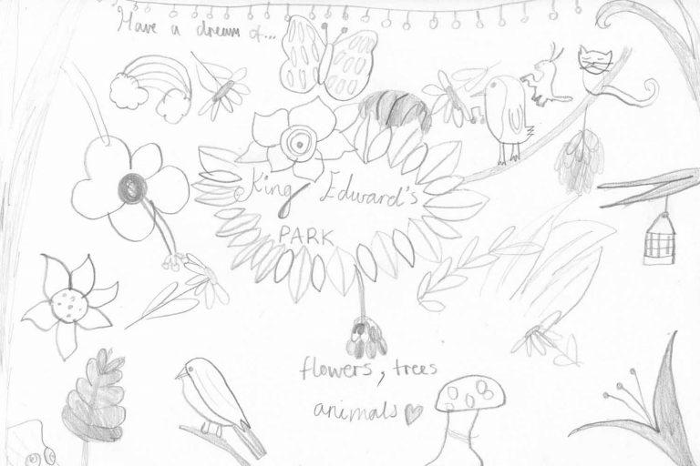 Drawing Nature at Tower Hamlets Cemetery Park event roman road 1 768x512