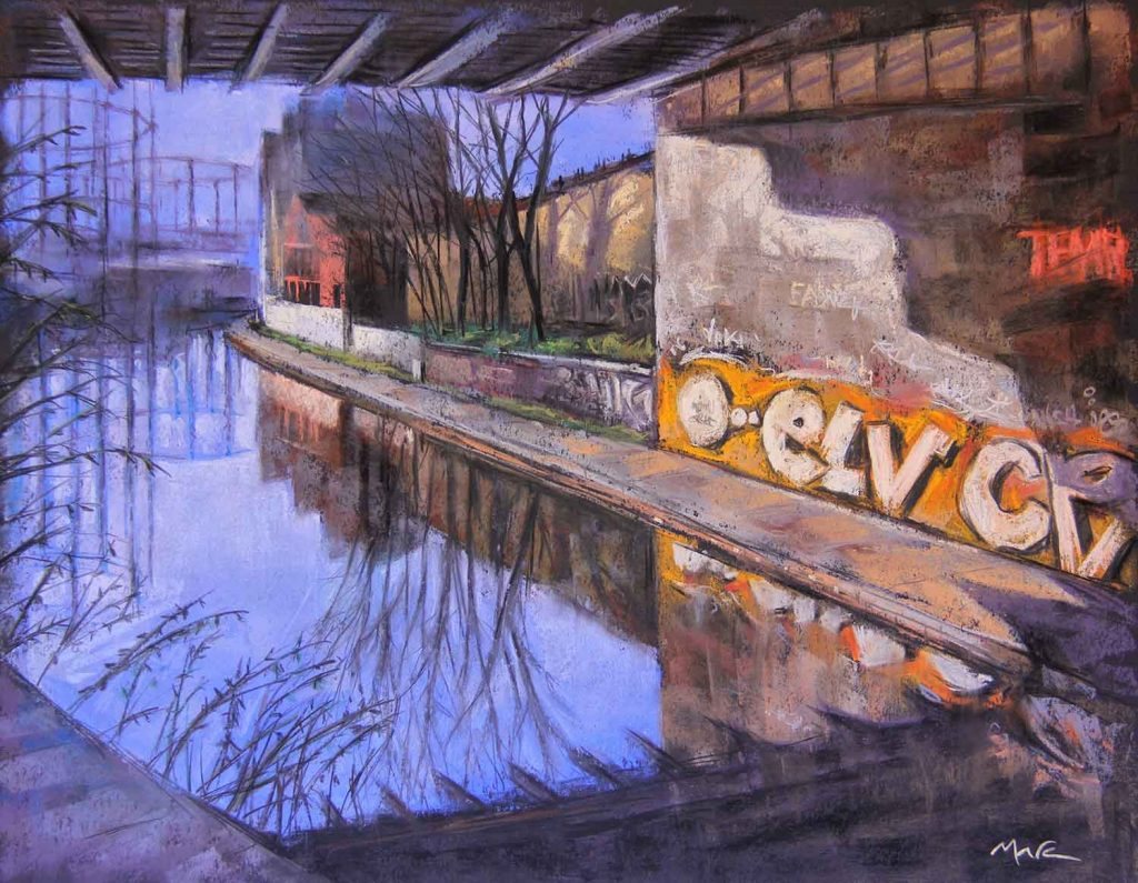 Regent's Canal, painting by artist Marc Gooderman.