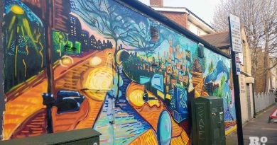 Street art celebrating NHS and keyworkers, Zealand Road, Bow.