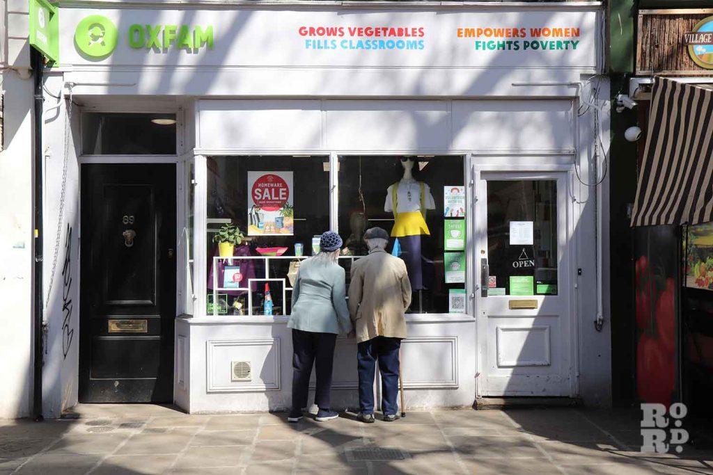Oxfam Charity Shop, Victoria Park Village, Hackney.