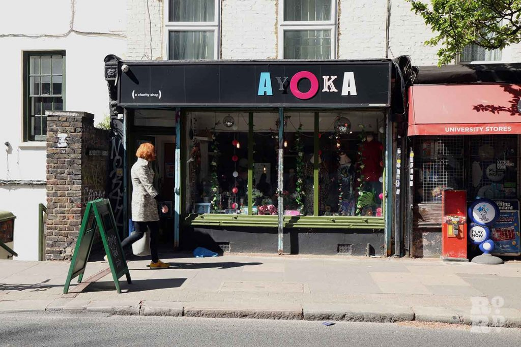Ayoka Charity Shop, Old Ford Road, Bethnal Green.