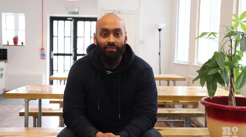 Ebs Rhaman, founder of Nujum Sports, at Mainyard Studios, Bow.