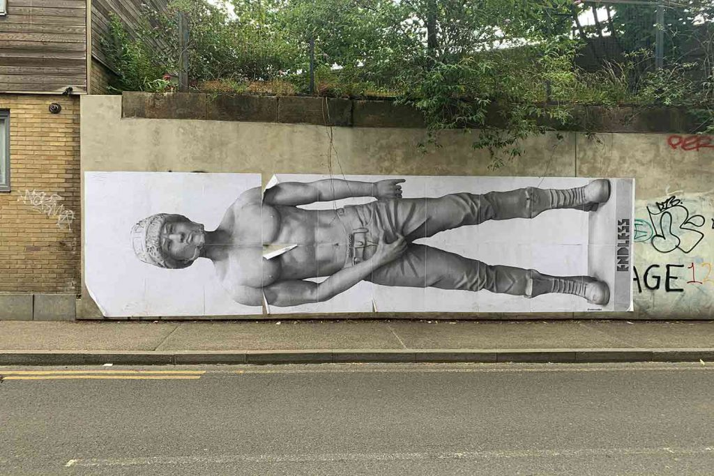 Street art by Endless, photos by Hackney Wick Creatives.
